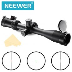 SBONY 4-16X44SFIR Objective Diameter 44mm Magnification 4X-16X AR Optics FFP Illuminated Varmint Target Dot Riflescope Rifle Scope with Target Turrets and Throw Down PC V4408CSFIR