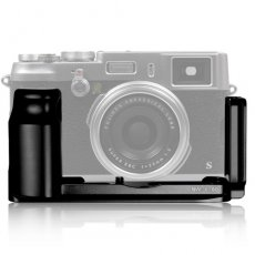 SBONY Black Metal Camera Quick Release Hand Grip L Plate for Fuji X100 X100S Cameras with Arca Swiss Compatible