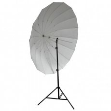 "SBONY® 72""/185cm Silver with Black Cover Reflective Parabolic Umbrella 16 Fiberglass Rib 7mm Shaft, includes Portable Carrying Bag"
