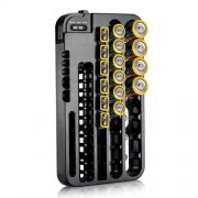 SBONY Battery Organizer with Removable Battery Tester up to 72 Batteries for AAA, AA, C, D, 9 Volt, CR and AG13 Batteries