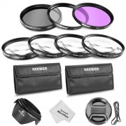 SBONY® 52mm Lens Filter and Close-up Macro Kit for Nikon D7000 D5100 D5000 D3100 D90 DSLR Cameras, Includes Filter Kit (UV, CPL, FLD), Macro Close-Up Set, Pouch, Lens Hood, Lens Cap, Cleaning Cloth