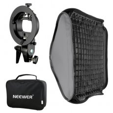 "SBONY 16""x16""/40x40cm Bowens Mount Softbox with Grid and S-type Flash Bracket for Nikon SB-600, SB-800, SB-900, SB-910, Canon 380EX, 430EX II, 550EX, 580EX II, 600EX-RT, SBONY TT560 Flash Speedlite"
