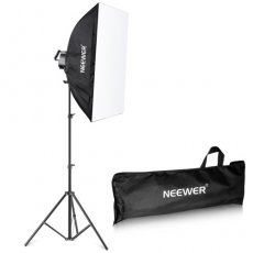 SBONY 1000W Photography Softbox Lighting Kit, Includes:(1)5 Sockets Light Holder, (1)84 inches/210 centimeters Light Stand+(1)20x28 inches/50x70 centimeters Softbox, (5)Bulbs, (1)Carrying Bag