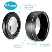 SBONY® 58MM 0.43X Professional HD Wide Angle Lens with Macro Portion for Canon EOS Rebel (T6s T6i T5i T5 T4i T3i T3 SL1 1100D 700D 650D 600D 550D 300D 100D 60D 7D 5D 70D) and More