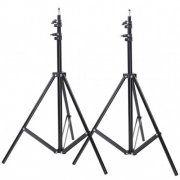 SBONY Two Aluminum Photo/Video Tripod Light Stands For Studio Kits, Lights, Soft Boxes - 6.23 Feet/190cm