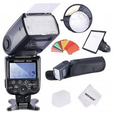 SBONY® NW910/MK910 i-TTL 1/8000s HSS LCD Screen Speedlite Master/Slave Flash Kit for Nikon DSLR Cameras, include:(1)NW910/MK910 Flash+(1)Soft&Hard Diffuser+(1)Reflector+(1)35 Color Filter+(1)Cloth