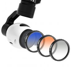 SBONY® for DJI OSMO / Inspire 1, Graduated Color Filter Set 3 Pieces: Graduated Grey Filter, Graduated Orange Filter and Graduated Blue Filter