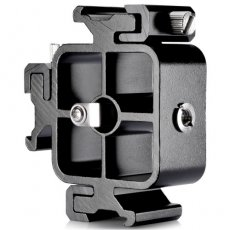 SBONY Aluminium Alloy Triple Three Universal Cold Shoe Mount Bracket for Canon Nikon and Other DSLR Cameras or Camcorder Accessory Such as LED Video Light, Microphone, Monitor, Flash