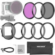 SBONY 52MM Filter Kit for GoPro Hero 3+/4: (3)Filters(UV + CPL+ FLD) + (4)52mm Macro Close-up Filters(+1, +2, +4, +10) + (1)52mm Ring Adapter + (1)Microfiber Cleaning Cloth + (2)Filter Carry Pouch