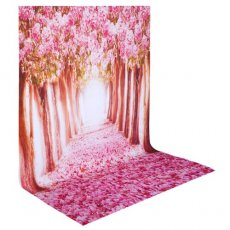 SBONY 5x7ft/150x210cm 100% Polyester Cherry Blossom Backdrop Background for Photography Studio Video Shooting (Backdrop Only)