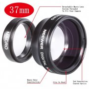 SBONY® 37MM High Definition Professional Photography Camera Lens - Wide Angle / 0.45X Macro Conversion Lens for Kodak, Canon & ANY Camera with a 37MM Filter Thread !!