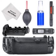 SBONY® Remote Control Vertical Battery Grip(Replacement for MB-D16)+4-IN-1 Professional Cleaning Kit(Lens Cleaning Pen+Air Blower Cleaner+Empty Spray Bottle+Microfiber Cleaning Cloth)for Nikon D750 DSLR Camera