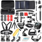 SBONY® 51-In-1 Sport Accessory Kit for GoPro Hero4 Session Hero1 2 3 3+ 4 SJ4000 5000 6000 7000 Xiaomi Yi in Swimming Rowing Skiing Climbing Bike Riding Camping Diving and Other Outdoor Sports