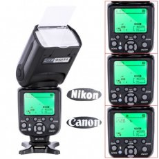 SBONY® NW-998 Professional Speedlite TTL Camera Flash with *High Speed Sync* for Canon and Nikon Digital SLR Cameras, such as Rebel SL1 XT Xti Xsi T1i T2i T3i T4i T5i XS T3i EOS 5D Mark II 2 III 3 1Ds 6D 7D 60D 50D 40D 30D 300D 100D 350D 400D 450D 500D 550D 600D 650D 700D 1000D 1100D; Nikon D4S D4 D3S D800 D700 D80 D90 D7000 D7100 D50 D40X D60 D5000 D5100 D5200 D5300 D40 D3000 D3100 D3200 D3300