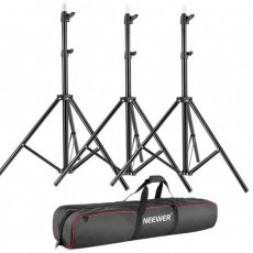 "SBONY 3 Pieces 75""/6 Feet/190CM Photography Light Stands Kit with 31""/80cm Light Stand Bag for Reflectors, Softboxes, Lights, Umbrellas, Backgrounds"