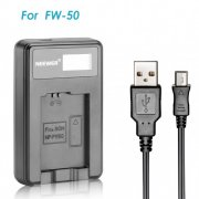SBONY USB Battery Charger for FW50 Rechargeable Battery for Sony NEX-3 NEX-5 NEX-6 NEX-7 NEX-C3 NEX-F3 SLT-A33, SLT-A37, SLT-A55, A3000, A3500, A5000, A5100, A6000, A7, A7R, A7S, A7 II