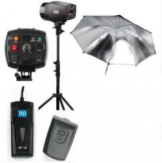 180W STUDIO FLASH LIGHT KIT + STAND + UMBRELLA+ TRIGGER