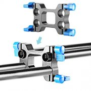 SBONY Offset Riser Rail Block Rod Clamp for 4 pieces 15mm Rod Movie Film Video Photography Making System Canon Nikon Sony Pentax Fujifilm Panasonic DSLR Camera Camcoder Rig Rail