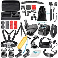 SBONY 50-in-1 Action Camera Accessory Kit for GoPro Hero 4/5 Session, Hero 1/2/3/3+/4/5, SJ4000/5000, Xiaomi Yi, Nikon and Sony Sports DV in Swimming Rowing Climbing Bike Riding Camping and More