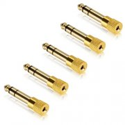 SBONY Gold Plated 6.3mm (1/4 inch) to 3.5mm(1/8 inch) Male to Female Audio Stereo Adapter(5-Pack)