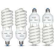 SBONY® 65W 110V 5500K Tri-phosphor Spiral CFL Daylight Balanced Light Bulb in E27 Socket for Photo and Video Studio Lighting(4 Pack)