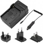 SBONY® 4 In 1 Battery Charger Kit, F550 100-240V AC Battery Charger + US/EU/UK Plug + Car Adapter for Sony NP-F550/F750/F960/F330/F570 PA-VBD1 PA-VBD2 Batteries