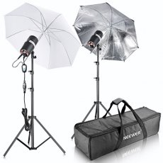 SBONY 400W(200W x 2)Professional Photography Studio Strobe Flash Light Monolight Umbrella Lighting Kit for Portrait Photography, Studio and Video Shoots(ST-200)
