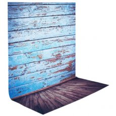 SBONY 5x7ft/150x210cm 100% Polyester Wooden Floor Backdrop Background for Photography Studio Video Shooting (Backdrop Only)-Blue