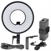 SBONY DVR-300DVC 300 Pieces LED 19W 3000-7000K Dimmable Macro Ring Light for Video Photography Continuous Output Light for Video, Portrait and Photography Lighting or Supplement