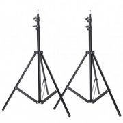 SBONY® 10ft/300cm Aluminum Alloy Photo/Video Tripod Light Stand for Studio Strobe and Lighting Fixtures, Soft Box - 2 Pack