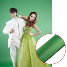 SBONY® 107 Inch x 12 Yard/2.72M x 11M Photo Studio Portrait Seamless Collapsible Backdrop Background Paper for Photography, Video and Televison (Green)