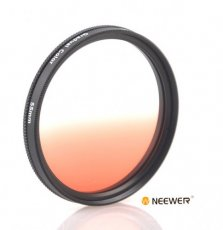 SBONY® 55MM Gradual Color Lens Filter (Orange) for ANY Camera Lens with 55MM Filter Thread