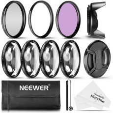 SBONY 52MM Professional UV CPL FLD Lens Filter and Close-Up (+1, +2, +4, +10) Accessory Kit for Lenses with a 52mm Filter Size