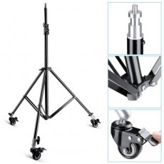 "SBONY Photography Studio Heavy Duty Max Height 79""/200cm Light Stand with Caster Wheels for Video, Portrait and Photography Lighting"