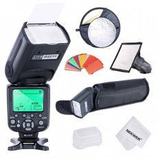 SBONY TR-988 Speedlite Camera Flash Kit for Canon EOS 5D Mark II 2 III 3 1Ds 6D 7D 60D 50D 40D 30D 300D 100D 350D 400D Rebel SL1 XT Xti Xsi T1i T2i T3i T4i T5i XS T3i and Nikon Cameras