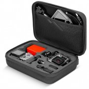 "SBONY® Black 8.6"" x 6.5"" x 2.6"" / 22 x 16.5 x 6.6cm Carrying and Travel Portable Shockproof Case with Protector Pouch for GoPro Hero 4 Session/ 4/3+/3/2/1, SJ4000/5000/6000/7000, XIAOMI YI Camera and Accessories"