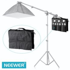 SBONY® SP-WCM Photo Video Studio Softbox Photo Holding Panel Boom Arm Bar Water Bag with 6 Outer Pouches (Black)