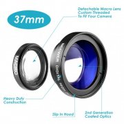 SBONY® 37MM 0.45X High Definition Photography Camera Wide Angle with Detachable Macro Conversion Lens
