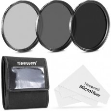 SBONY® 58MM Neutral Density Filter Set (ND2 ND4 ND8) + Premium Microfiber Cleaning Cloth for CANON EOS REBEL 700D 650D 600D 550D 500D 450D 400D 350D 100D (T5i T4i T3i T2i T1i XSi XTi XT SL1)