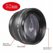 SBONY® 52MM 2x Telephoto Conversion Lens for For Nikon D3000, D3100, D3200, D5000, D5100, D7000, D7100, D600, D610, D700, D750, D800, D800E, D810 Digital SLR Camera